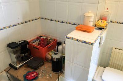 Koffiehoek in de badkamer
