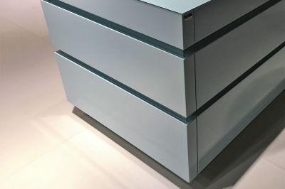Blauwe keuken/werkblad glas